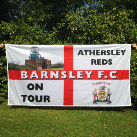 12ft x 6ft (3.65m x 1.83m) Flag: Custom Design