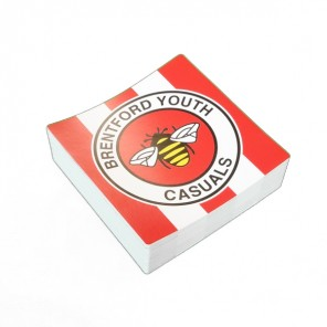 10cm Square Football Stickers (Pack of 50)