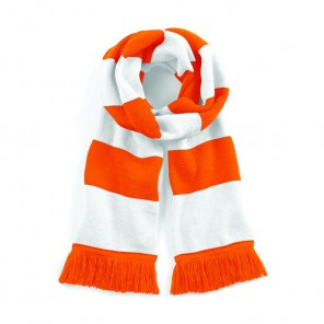 Two Tone Knitted Varsity Scarf  - 182cm x 18cm