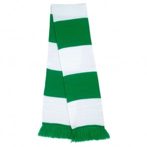 Two Tone Knitted Team Scarf  - 140cm x 20cm