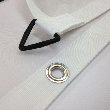 Top class finishing with coloured edge binding, eyelets and tri-rings!