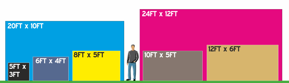 Football Flags Sizes